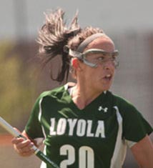 Co-captain Cara Filippelli (Courtesy of Loyola Sports Information)