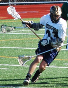 Spring-Ford senior attackman Drew Thomas has committed to York College