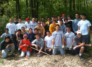The Wissahickon Boys' Varsity and JV lacrosse teams participated in their 3rd annual Community Service project on April 24, 2010. The team cleaned up and re-wood chipped the walking trail at Whitpain Township's Wentz Run park. The 49.8 acre park is part of the Whitpain Township Open Space Plan adopted in December 1995. This is the third year in which the coaches, parents, and players gave back to the township in the form of community service