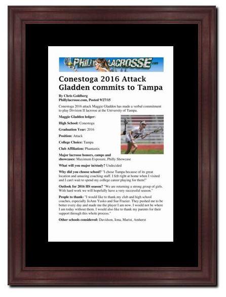 PhillyLacrosse.com   Frame It!   PhillyLacrosse.com