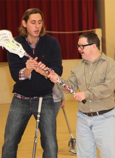 Brett Manney teaches Melmark student