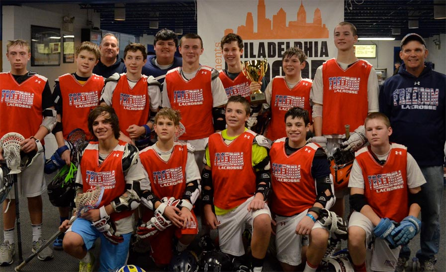 PILC Champions - Left to Right - Back Row: Doug Jones, Jack Whalen, Coach Burke McFillin, Dylan Teeter, Kevin Mo, Michael Fay, Matt LoPolito, Burke McFillin, JD Carroll, Coach Kevin Goforth. Front Row - Shawn Coulter, Samuel Goforth, Colby Smith, MJ Alfonso, Jason Reynolds. Spencer Bicking not pictured due to injury