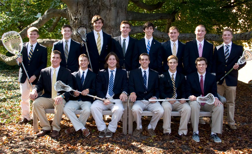 FRONT ROW (left to right): George Uhrich (Defense, U.S. Naval Academy), Sean Coleman (Midfield, Harvard University), Andrew Eidenshink (Defense, Fairfield University), Andrew Grajewski (Defense, Monmouth University), Mike Pascali (Midfield, Mount Saint Mary's University), and Adam Schaal (Attack, Boston University) BACK ROW (left to right): Nick Hreshko (Goalie, Monmouth University), Brendan McGonigle (Midfield, College of the Holy Cross), Conor Resch (Defense, Yale University), Stefan Bergman (Defense, University of Michigan), Jeff Cimbalista (Attack, Yale University), Matt Rambo (Attack, University of Maryland), Zach Drake (Midfield, Lehigh University), and Brian McNamara (Midfield, Saint Joseph's University)