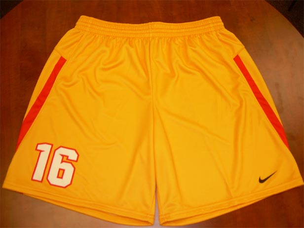 Sublimated Nike Vapor Elite shorts