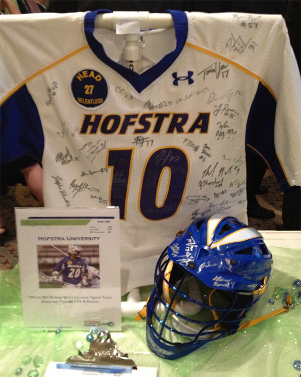 Hofstra gear at the Limelight Gala's silent auction