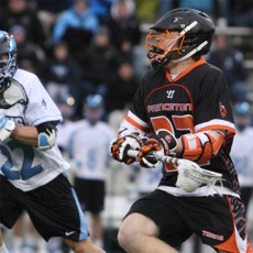Princeton's Tom Schreiber (right) had three goals (Courtesy of Princeton Sports Information)