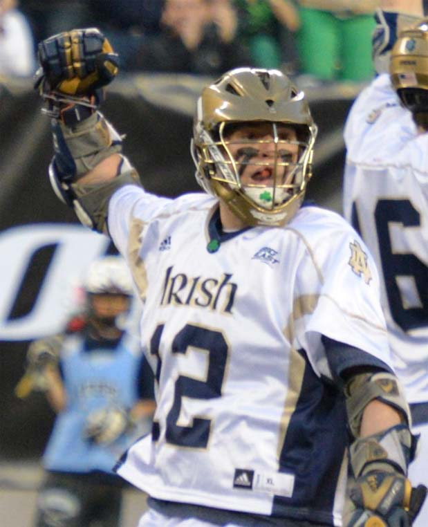 Notre Dame midfielder Westy Hopkins (La Salle, Lawrenceville School) is a key veteran