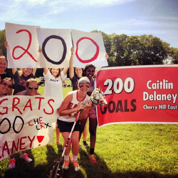 Caitlin Delaney scores 200th goal