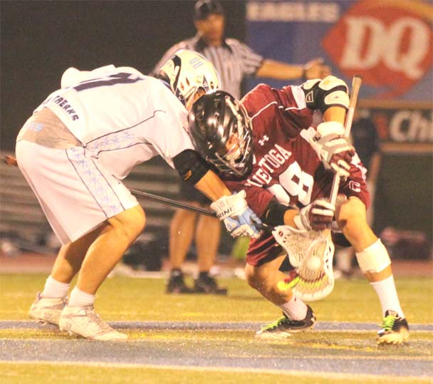 Conestoga's Christian Jobs wins one of his 11 face-offs vs. Manheim Township in Wednesday's victory