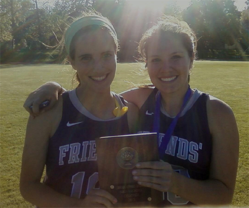 Friends' Central co-captains EmmaDahle, Ashley Tedesco celebrate the Friends Schools League championship