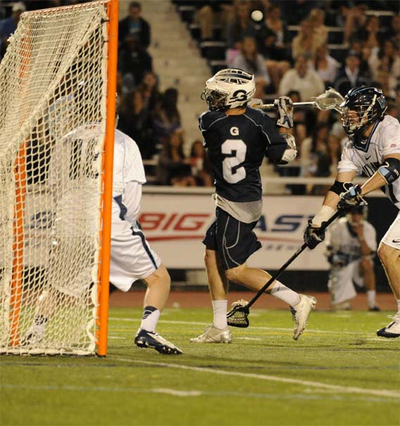 Georgetown's Zack Guy scores a goal behind his back (Photo by Tim Flatley)