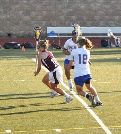 Hannah Proctor, #12, burgundy jersey