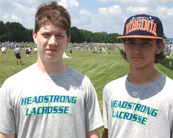 HEADstrong 2016 players Seamus Glavin, Tyler Kostack
