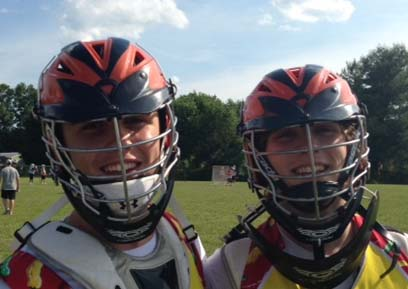 Sean Tornetta (left0 and Bryce Womack of Perkiomen Valley have been named to the PA team for the Brine National Lacrosse Classic