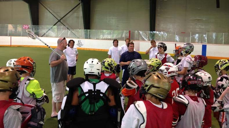 Brian Dougherty speaks to the campers at AILA camp