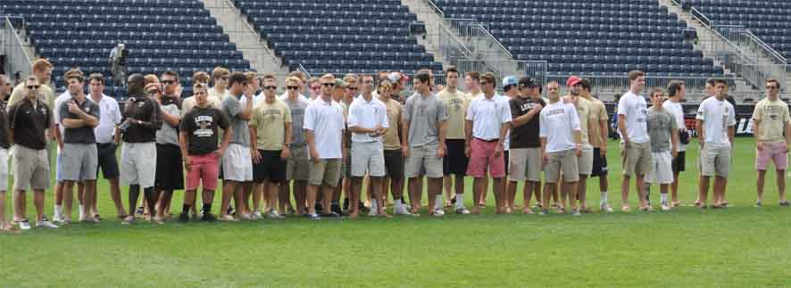 Lehigh's two-time Patriot League champions were honored during the second game of the MLL Championship semifinals Saturday at PPL Park