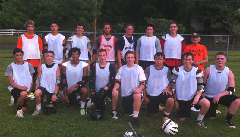 LOWER BUCKS CHAMPS -  Pennsbury Black- League Champs Top row- Brian Doron, Mike Montgomery, Carter Glace, John Conte, Greg Kolowajtis, Zach Bennett, Stephen Barberides, Coach 'Grandpa' Doug Greenfield Bottom Row- Fred Walp, Jake Ferraro, Nafis Kahn, Anthony Sutchko, Hunter Lake, Jared Petty, Nick Dugan, Scott Jackson