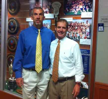 La Salle coaches Tony Resch (left) and Bill Leahy
