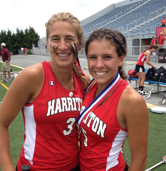 Phillylacrosse.com Co-Players of the Year Sabrina Tabasso (left), Caleigh Foust
