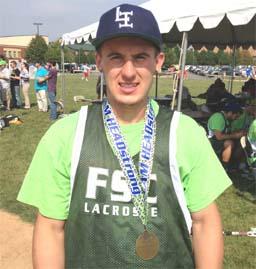 Sophomore Damian Romanelli of Farmingdale State