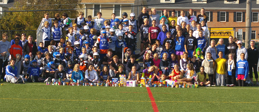 More than 100 youths participated in the Kennett Blue Demons Election day Clinic/Food Drive