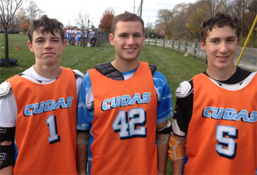 LI Express Fab 40 All-Stars included (from left) TJ Heagerty, Noah Knopf and Christopher Adamo