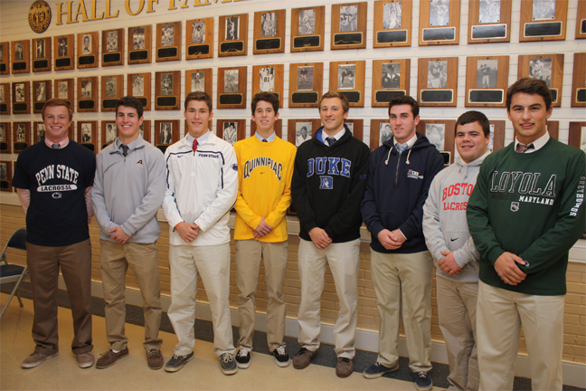 From left: Tripp Traynor, Conor Glancy, Chris Isenberg, Carson Cocco, Greg Pelton, Kevin McGeary, Ryan Hillburn, Ryder Harkins