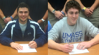 Perkiomen Valley signees Sean Tornetta (Monmouth), Shawn Dickey (UMass-Lowell)