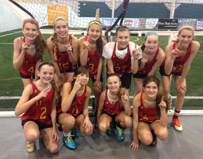 :Dynamite 2019 champions: Front, from left – Claire Gola, Sean Tuckman, Jillian Quigley, Kasey Roberts Back Row – Kathryn Kelley, Paige Tyson, Lila Tuckman, Jessica Whalen, Abigail Riehman, Gabrielle Perrotto