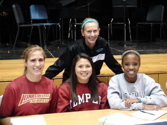 North Penn signing - From left