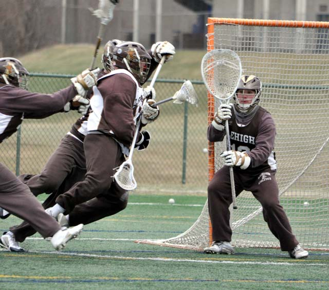 Lehigh goalie Matt Poillon is a key as the Mountain Hawks gear for their Feb. 1 opener (Photo courtesy of Lehigh Sports Information)