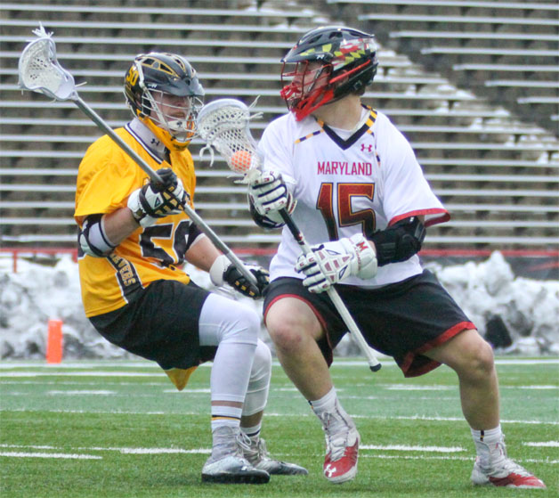 Maryland's Matt Rambo (La Salle) scored two goals Saturday for the Terps. (Photo by Rene Schleicher)