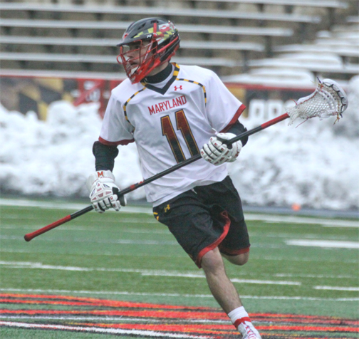 Maryland defenseman Mike Bender (Emmaus) - Photo by Rene Schleicher