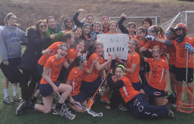 Germantown Friends celebrates the 100th career goal by Annie Tyson