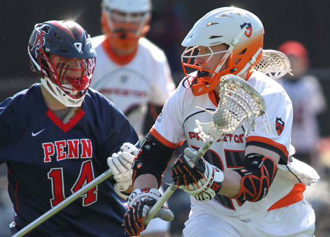 Princeton's tom schreiber, penn's kevin mcdonough ... Photo by beverly schaefer