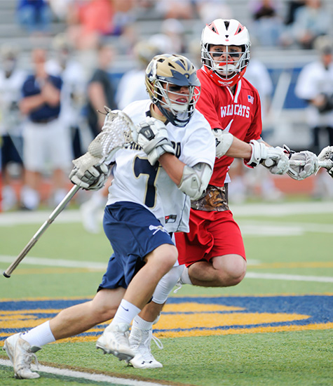 Spring-Ford's Austin Pecharo heads up field during Monday's win (Photo courtesy of PAC-10Sports.com)