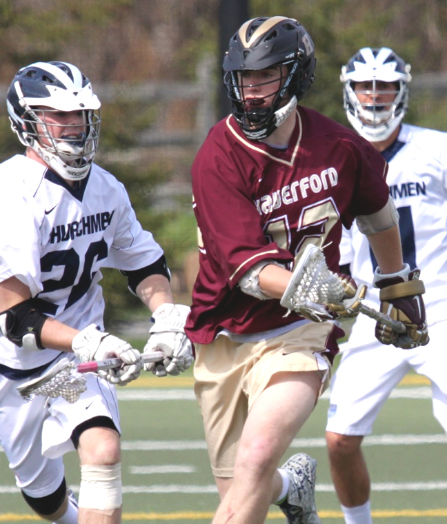 Haverford School's Connor Keating heads downfield in Friday's win over Episcopal Academy