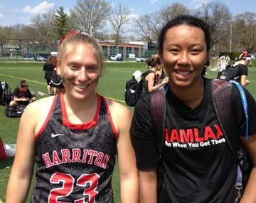 Harriton's Hilary Lemonick (left), Melina Avery are helping the Rams get healthy