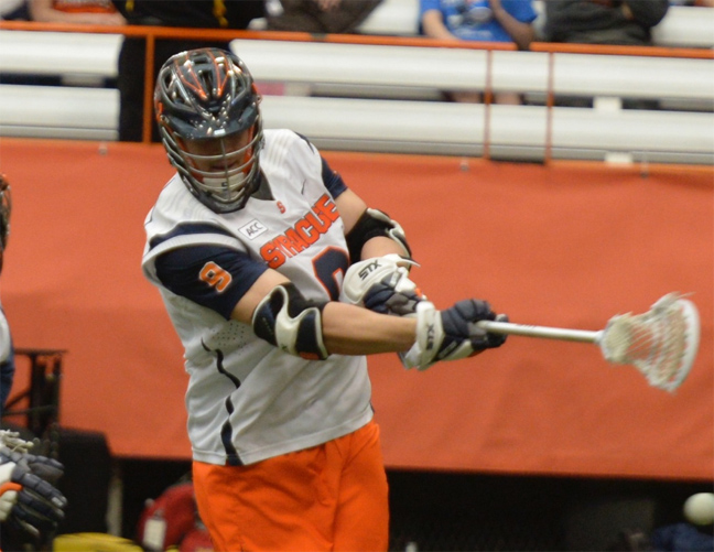 Syracuse junior midfielder Matt Walters (Haverford School) is a key on man-up for the Orange