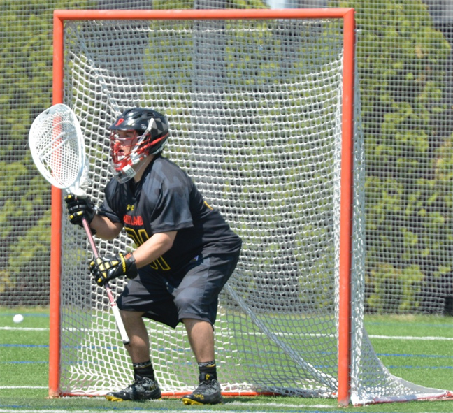 Maryland goalie Niko Amato (La Salle) is one of many Philly grads that will playing tonight when Maryland meets Notre Dame in the ACC semifiinals