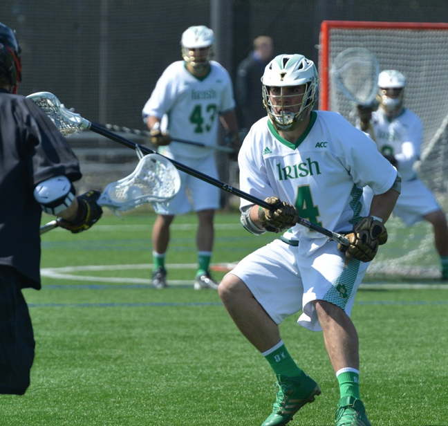 Notre Dame All-ACC defenseman Steve O'Hara (St. Joseph's Prep) leads the Irish on defense