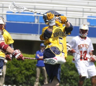 Drexel's Jules Raucci (Garnet Valley) scored once vs. Denver