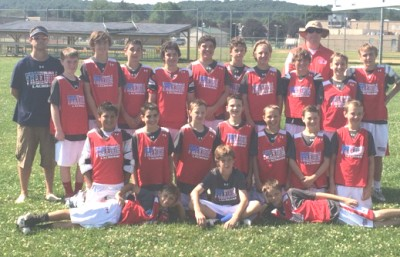 Freedom wins 2020 crown at LaxEvo games. Front row (from left): Jakob Voehringer, Jared Kolinsky, Nolan Smith; Second row: Braeden Karpathios, Griffin Pumilia, Josh Toth, Spencer Uggla, Will Yocum, Michael Voehringer, Cole Benson; Back row: Coach Benson, Matt Brock, Joe Morgan, Dylan Kilroy, Matt Flinn, Gunnar Romano, PJ Grubb, Cole Bertolami, PJ Oppenheimer, Coach Kilroy, Keegan Billie, Gabriel Goforth; Not shown: Brady McGovern, Coach Voehringer