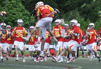 Penncrest celebrates win over La Salle