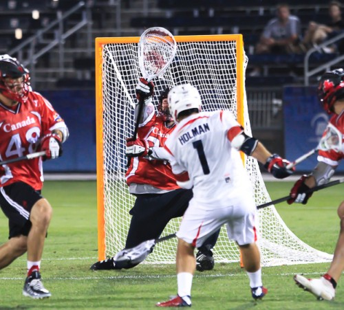 All-World goalie Dillon Ward stuffs the USA