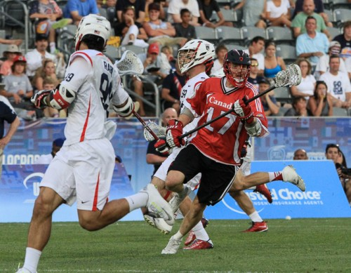 Canada's Brodie Merrill (Wings) heads downfield