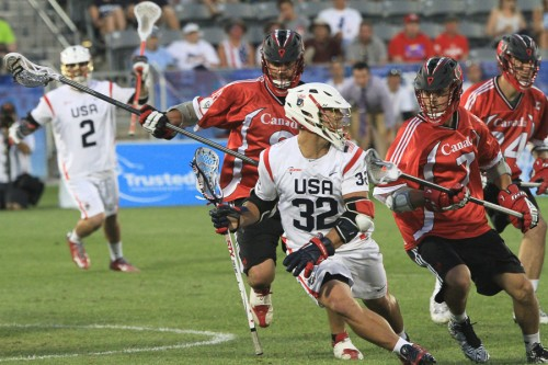 USA's Rob Pannell looks for operating room