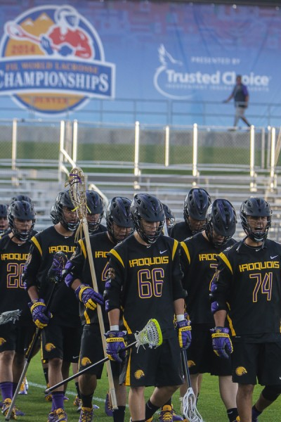 Team Iroquois gears for semifinal with Canada (Photo by John Flickinger)