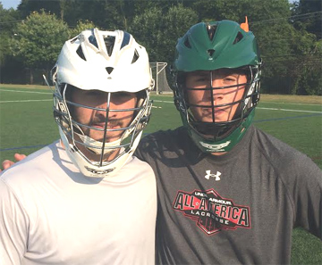 St. Augustine Prep's Will Fox (left), Ridley's Cade Heverly