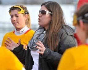 Chestnut Hill College women's coach Chelsea Rosiek
